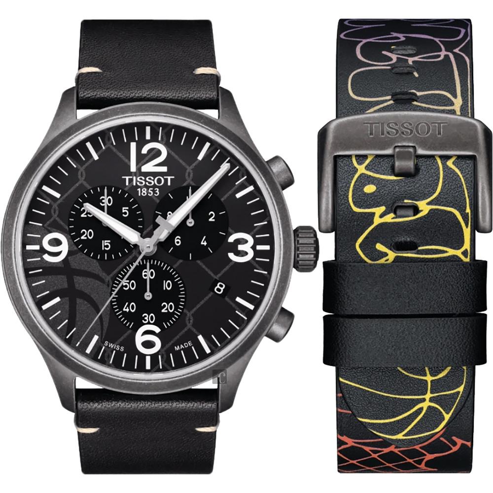 TISSOT CHRONO XL 3X3 街頭籃球特別版手錶 T1166173606700