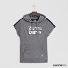 Hang Ten - 女裝- ThermoContro-logo造型連帽短T -灰