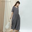 新降【MOSS CLUB】日系棉麻舒適-洋裝(灰色)