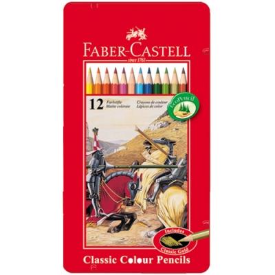 FABER-CASTELL 油性色鉛筆 12色 115844