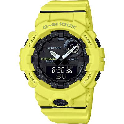 G-SHOCK 藍牙連結健康管理腕錶-螢光黃(GBA-800-9A)/48mm