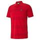 PUMA-男性法拉利經典系列條紋短袖Polo衫-法拉利紅-歐規 product thumbnail 1