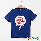 bossini男童-印花短袖T恤04皇家藍