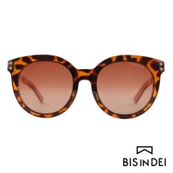 BIS IN DEI 微高調復古圓框太陽眼鏡-豹紋