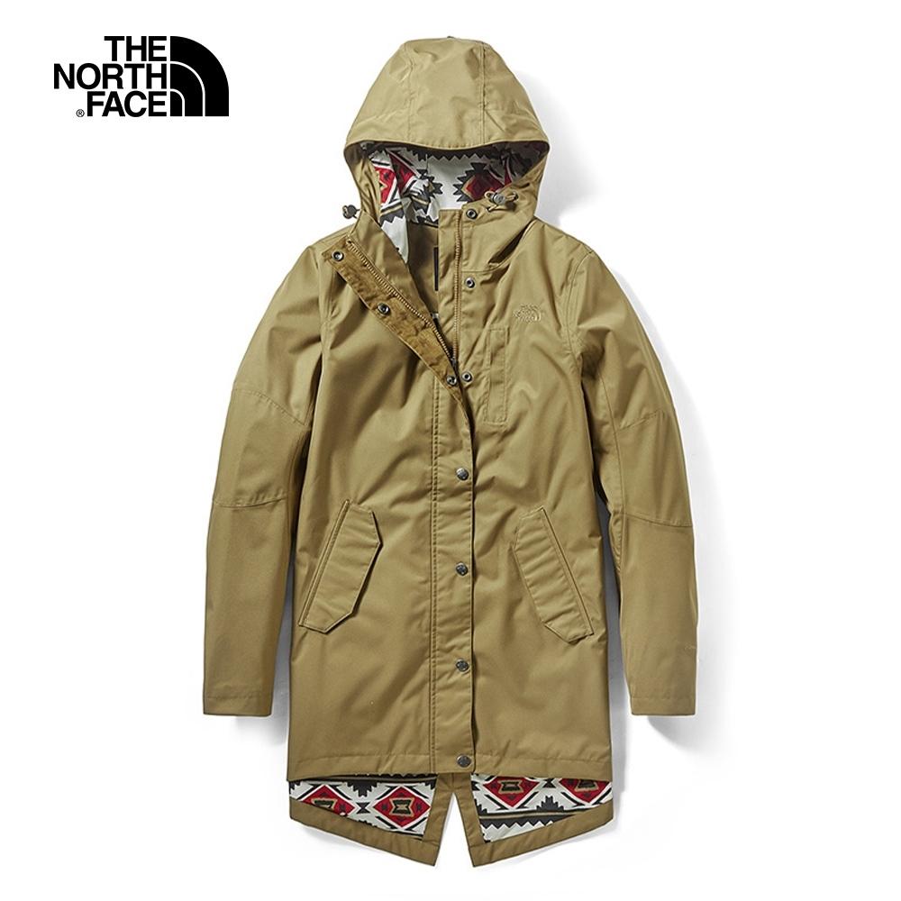 The North Face北面女款卡其色戶外防水透氣衝鋒衣|3VU4D9V