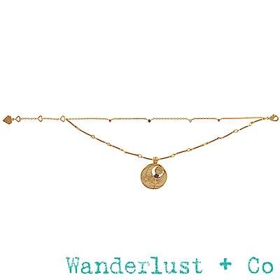 Wanderlust+Co 生日石系列- 二月手鍊