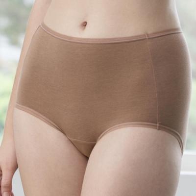 華歌爾-天絲竹炭 M-3L 中高腰三角褲 (深膚)