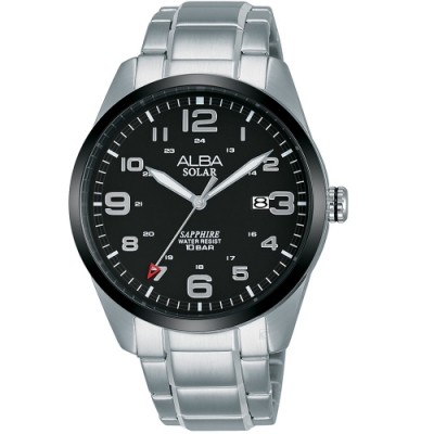 ALBA雅柏經典太陽能時尚手錶(AX3005X1)-黑