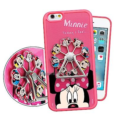 迪士尼 iPhone 6s Plus/6 Plus 摩天輪指環扣防滑支架手機殼(米妮)