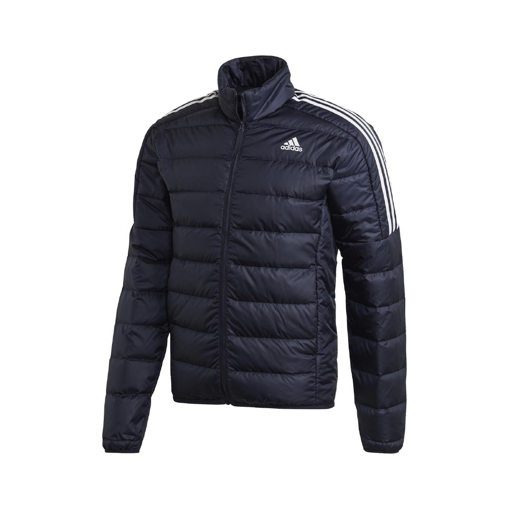 adidas 外套 Essentials Down JKT 男款 愛迪達 羽絨外套 冬季保暖 基本款 藍 白 GH4594