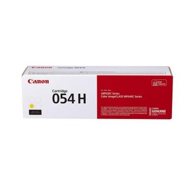 佳能 Canon CRG-054H Y 原廠高容量黃色碳粉匣