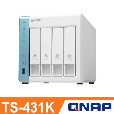 QNAP 威聯通 TS-431K 4Bay NAS 網路儲存伺服器