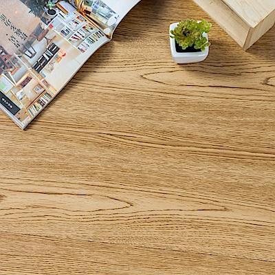 樂嫚妮 塑膠PVC仿木紋DIY地板貼 6.9坪 自然橡木