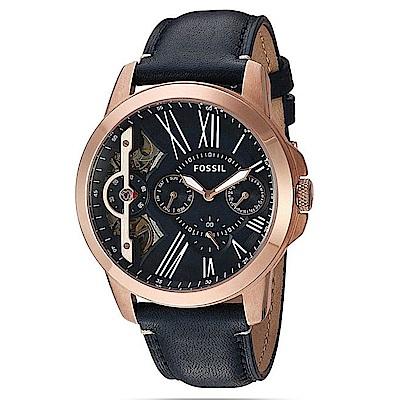 FOSSIL 典藏熱賣款雙機芯日曆腕錶(ME1162)-44mm