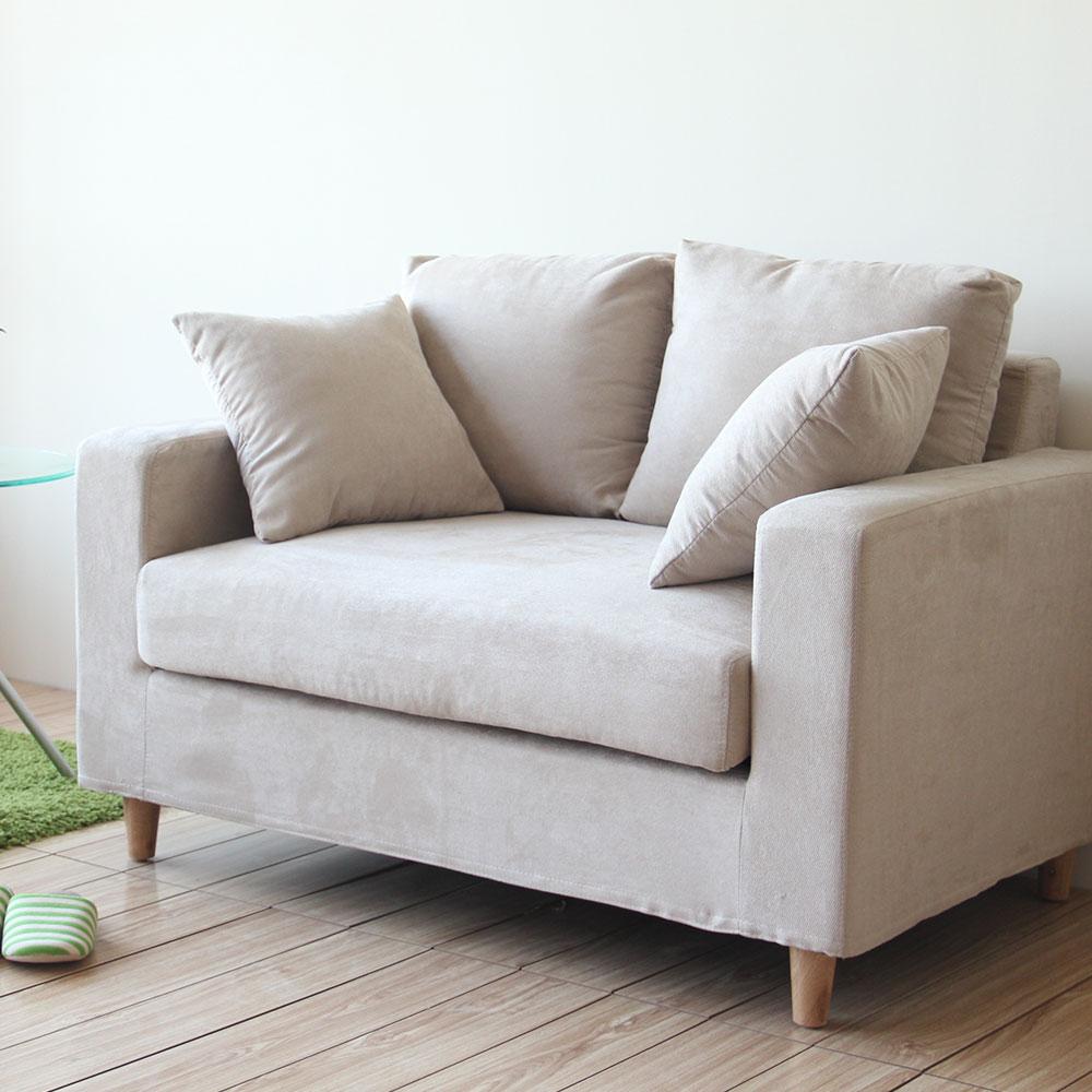 YKSHOUSE-new日式良品雙人座布沙發-四色可選