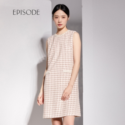 EPISODE - 優雅小香風千鳥格紋無袖洋裝