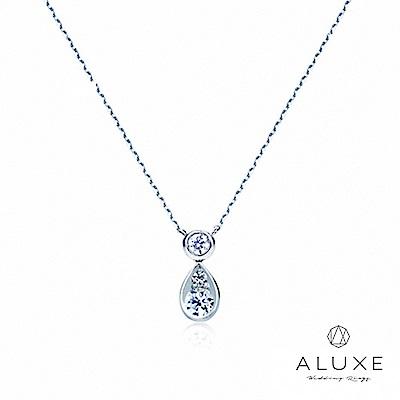 A-LUXE 亞立詩 Embrace 18K金 水滴美鑽項鍊