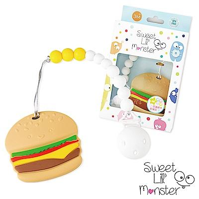 【Sweet Lil Monster】漢堡固齒器/奶嘴鍊