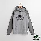 Roots-男裝-庫柏海狸連帽上衣- 灰