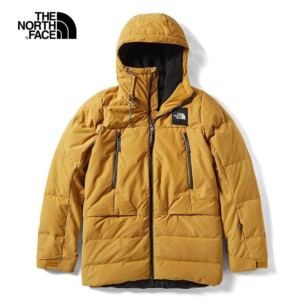 The North Face北面女款黃色防水透氣羽絨外套|3M17CZ2