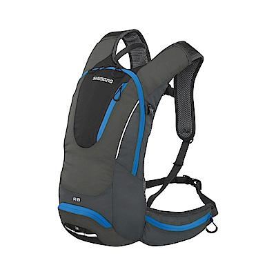 【SHIMANO】ROKKO 8L 多功能水袋背包 黑/閃電藍