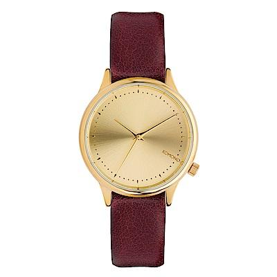 KOMONO Estelle Classic 腕錶-勃艮第紅酒/36mm