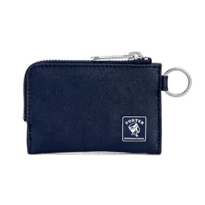 PORTER - 迷幻復古MORI簡約L型卡片零錢包 - 深藍