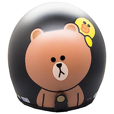 LINE 熊大安全帽 平黑 (小帽款)