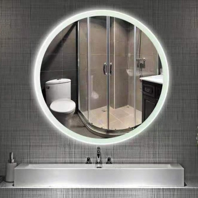 H&R安室家 波爾多 智能LED發光觸控圓型燈鏡 ZA0196(掛鏡/浴鏡/化妝鏡/鏡子)