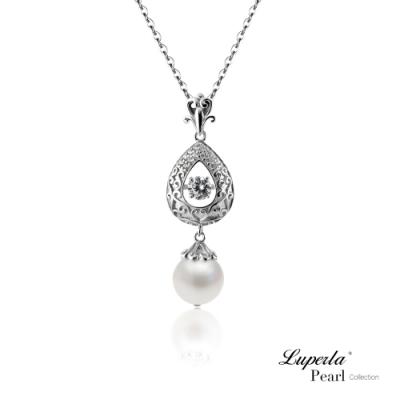 大東山珠寶 日本Akoya海水珍珠純銀晶鑽項鍊 星芒