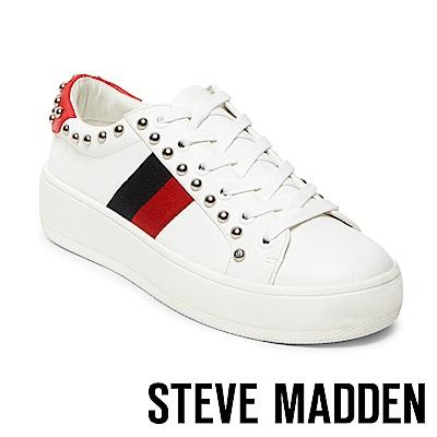 STEVE MADDEN-BELLE-潮流時尚運動條紋鉚釘休閒鞋-紅色
