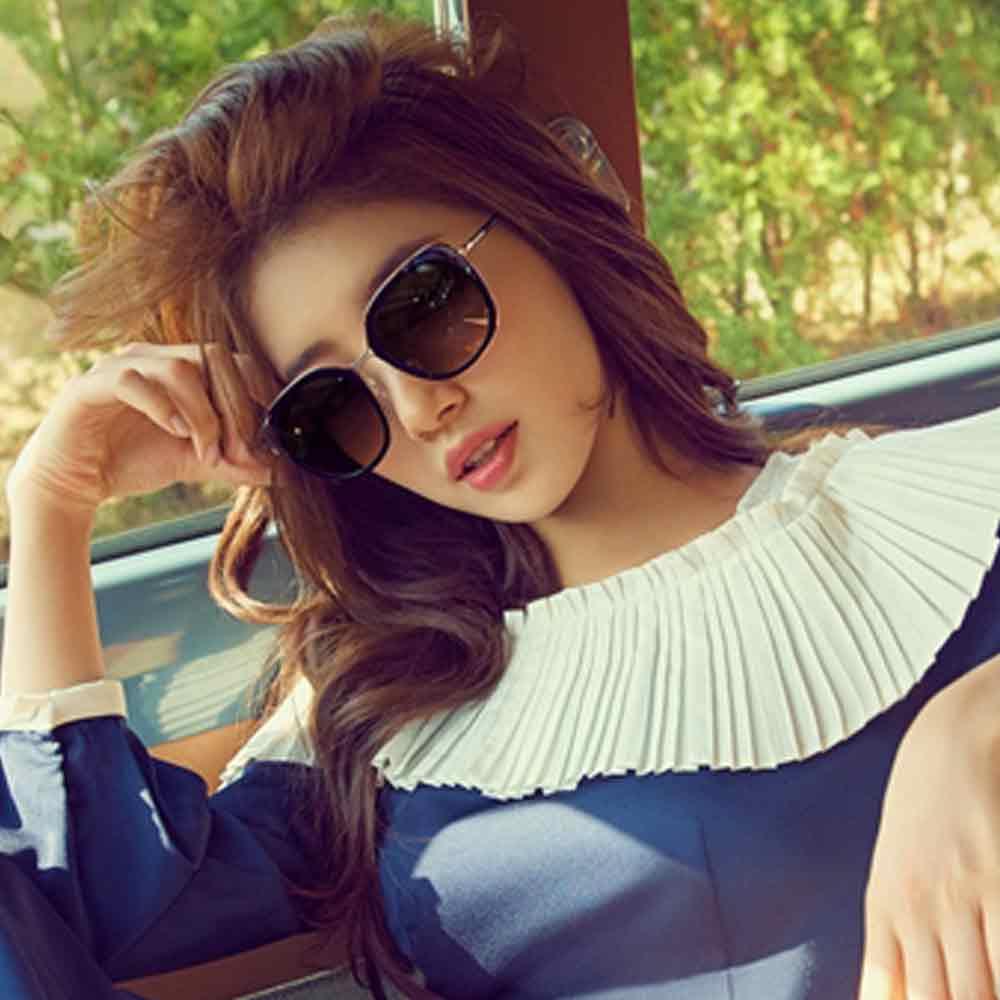 CARIN太陽眼鏡 秀智代言 韓系修飾造型款/黑金 #LINDA C1