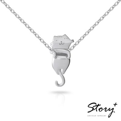 STORY故事銀飾-貓小姐系列-我陪妳純銀貓項鍊