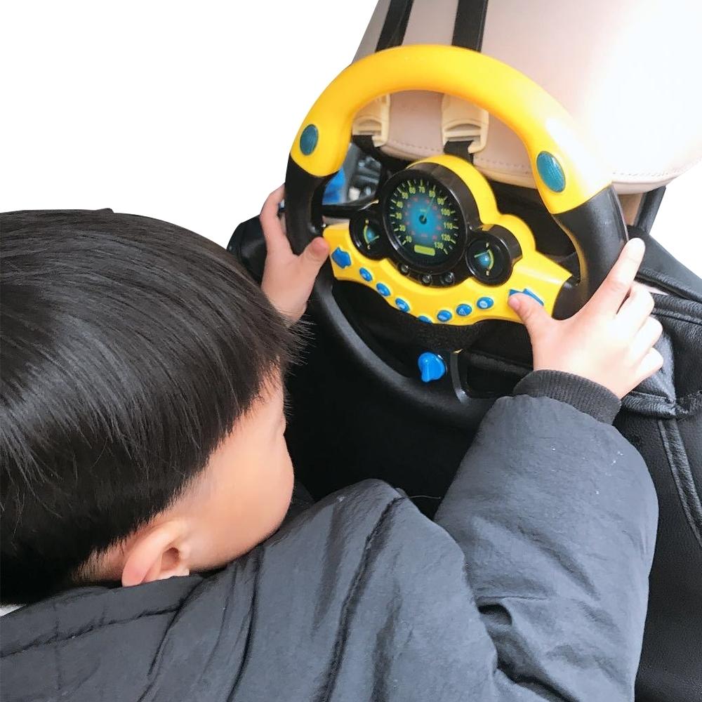 colorland 兒童模擬仿真音效方向盤 副駕駛方向盤 早教玩具
