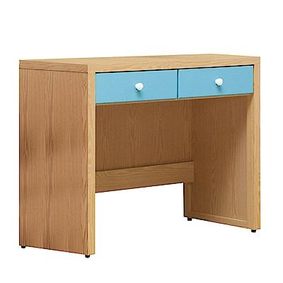 文創集 波蒂莉 時尚3尺雙色二抽書桌/電腦桌-91x54.5x80.5cm免組