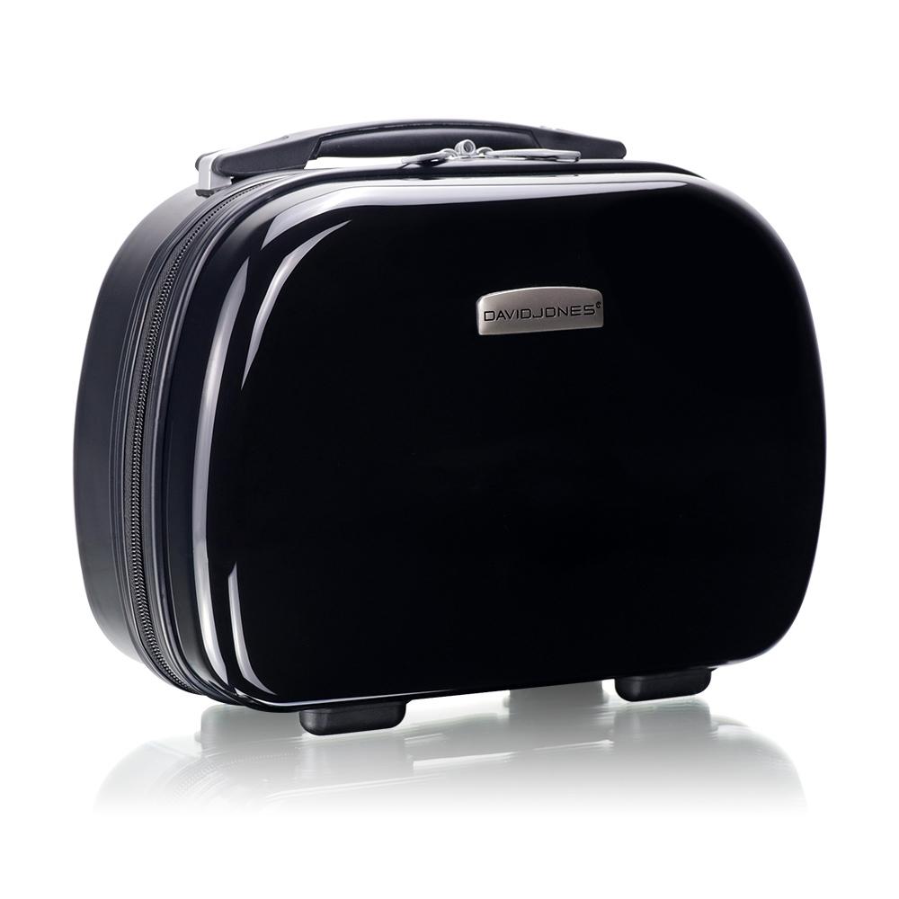 旅遊首選 旅行收納可外掛式 PC硬殼收納箱 化妝包 過夜包(時尚黑)