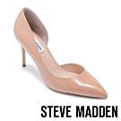 STEVE MADDEN-LESSONS1 素面尖頭側空高跟鞋-鏡面粉