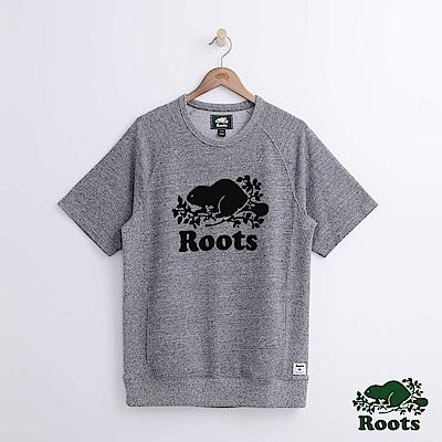 Roots 男裝-庫柏海狸短袖上衣-灰色