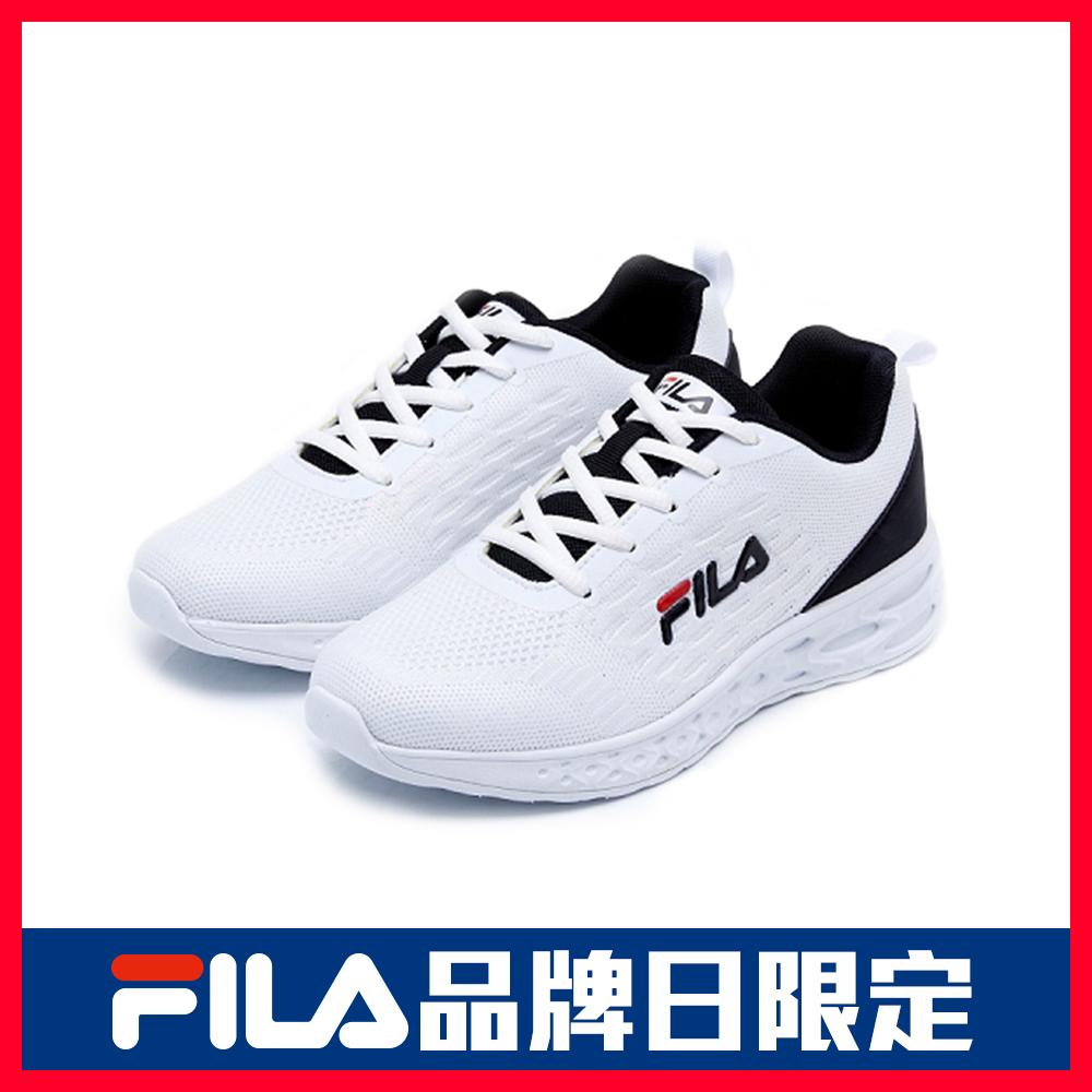 FILA PLATO 女性慢跑鞋-白 5-J916U-100
