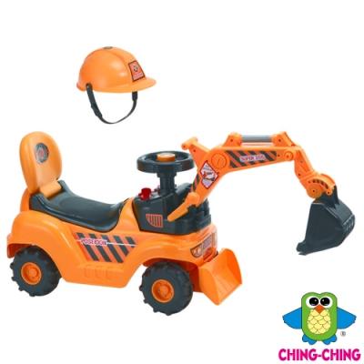 親親Ching Ching 挖土機音樂學步車(滑行車)-附工程帽跟吊爪
