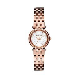 MICHAEL KORS紐約風格玫瑰金腕錶/MK3832