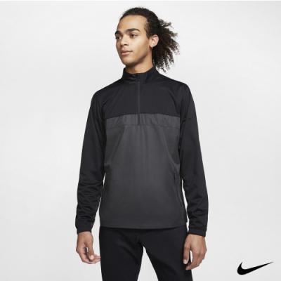 Nike  男 1/2拉鍊防潑上衣 黑灰 BV0388-010