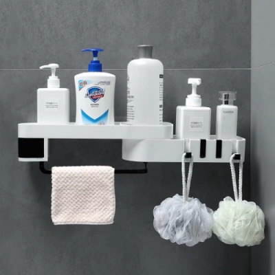 OZAWA 大澤-北歐風浴室廚房多角度置物架x2組