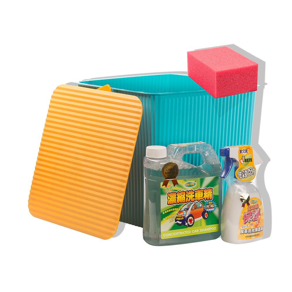 【潔神】皮革啵亮組 皮革清潔保養 洗車工具組 @ Y!購物