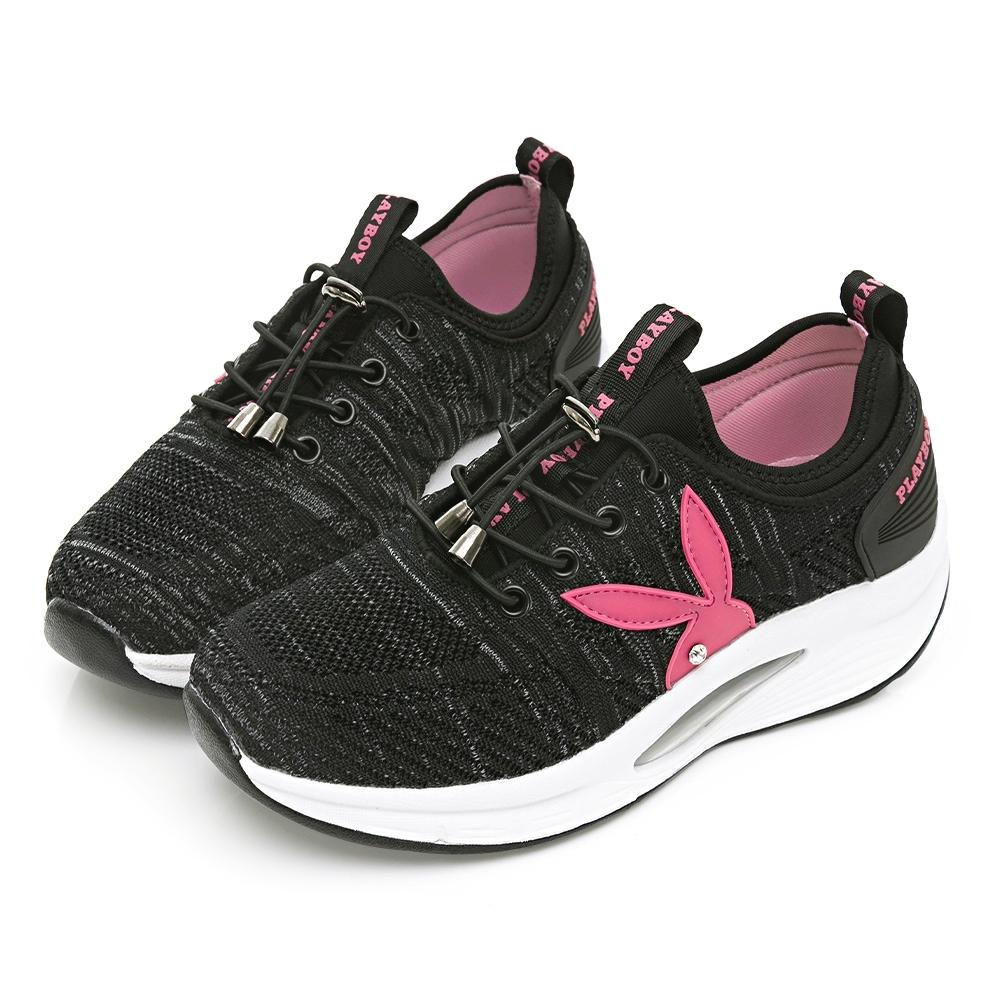 PLAYBOY 舒適動能 足弓氣墊休閒鞋-黑-Y6751CC