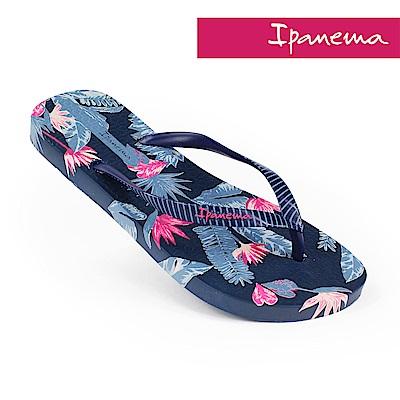 IPANEMA 熱帶雨林人字拖鞋-粉藍色/海軍藍
