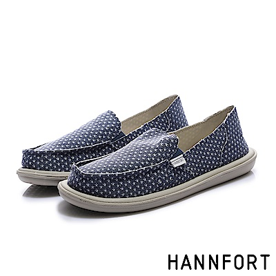 HANNFORT COZY 復古圖騰懶人鞋-女-星星藍