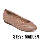 STEVE MADDEN-CAPTION 拼接菱格紋皮質平底女鞋-粉膚色 product thumbnail 1