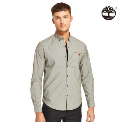 Timberland 男款葡萄葉綠色修身牛津長袖襯衫|A1WP8