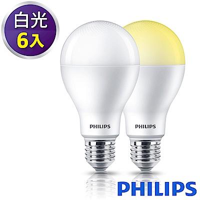 Philips飛利浦 舒視光護眼13.5W LED燈泡-白光6500K 6入